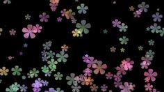 Фон для видеомонтажа Colourful Flowers HD Video Background