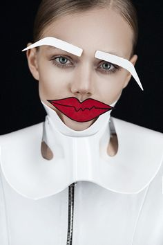 "Fashion Editorial ""Le Papier"" Ellie Leith by Tré & Elmaz, Makeup Artist Heidi North for Hunger TV Young Blood Series"