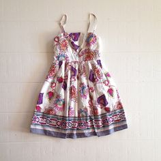 TwentyOne Floral & Paisley Sun Dress Twenty One floral dress. Shell: 100% cotton, lining: 100% polyester. Hand wash. Twenty One Dresses