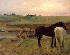 Horses in a Meadow Degas