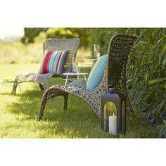 Garden Treasures Tucker Bend Steel WovenSeat Patio Chair Lowes