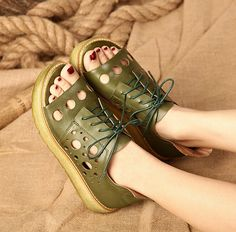 Hey, I found this really awesome Etsy listing at https://www.etsy.com/listing/386924326/handmade-women-flat-sandalsretro-green