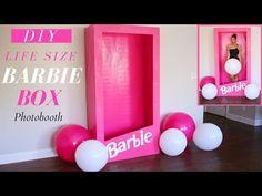 Barbie Party Decorations, Barbie Theme Party, Barbie Birthday Party, 6th Birthday Parties, Girl Birthday, Birthday Ideas, Barbie Bachelorette, Box Photo, Life Size Barbie