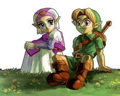 Legend of Zelda Ocarina of Time Link Love the legend of zelda series :)