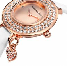 #markmaddox #wandelia #rosegold #white #luxury #crystals #watch #watches Bracelet Watch, Rose Gold, Watches, Crystals, Luxury, Bracelets, Accessories, Wristwatches, Clocks