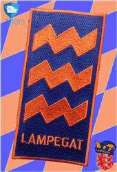 Lampegat badge, nieuw stadswapen van Eindhoven in de lampegatse versie. Nu verkrijgbaar in de winkel.