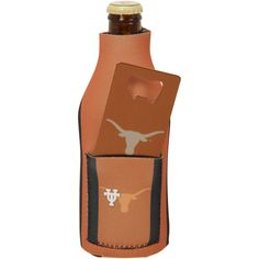 Texas Longhorns Bottle Insulator with Pocket and Opener