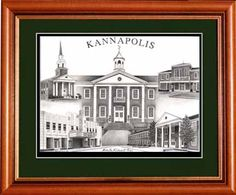 Kannapolis, North Carolina Village Prints  Drawing by Michelle Rideout