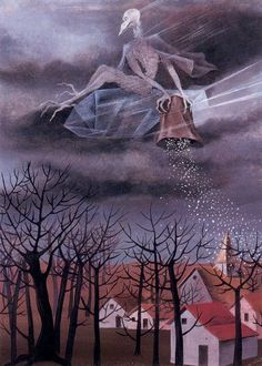 Cold, 1948, Remedios Varo Medium: gouache, cardboard