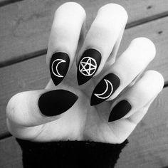 wiccan inspired nails