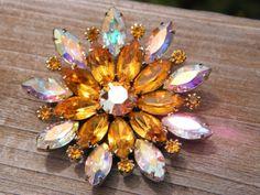 Beautiful Sparkly Juliana Round Rhinestone Starburst by calessabay, $34.95