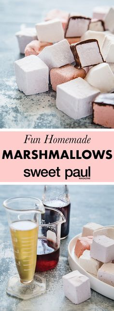 The secret ingredient that gives these homemade marshmallows ZING is the pickle juice from sweet pickled beets and cherries!