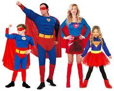 Grupo de Familia Superman #disfraces #carnaval #disfracesparagrupos