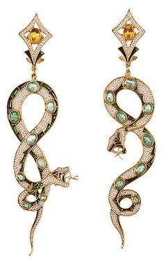 Diego Percossi Papi Earrings...The Serpents are Restless