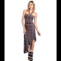 """Selling this """"Flamingo Tribal Hi-Low Belted Maxi Halter Dress"""" in my Poshmark closet! My username is: scoulon. #shopmycloset #poshmark #fashion #shopping #style #forsale #Dresses & Skirts"""