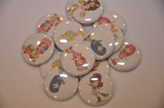 25 Strawberry Shortcake and Friends Flat Back by ButtonGalore, $7.50