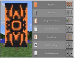Minecraft Banner Patterns, Cool Minecraft Banners, Images Minecraft, Minecraft House Designs, Minecraft Decorations, Amazing Minecraft, Minecraft Crafts, Minecraft Banner Crafting, Cool Minecraft Creations