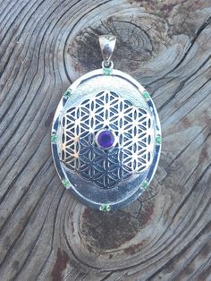 Sacred Geometry Sterling Silver Flower of Life Oval by WookNook13