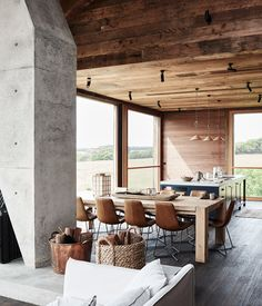 This Australian Farmhouse is an Architectural Wonder Australian Architecture, Interior Architecture, Interior Design, Australian Sheds, Decoration Inspiration, Elegant Homes, Home Remodeling, Sweet Home, House Ideas