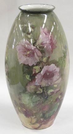 2060: Franz Bischoff floral decorated vase : Lot 2060