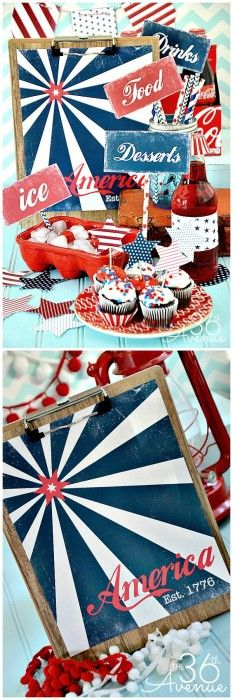 The 36th AVENUE | Fourth Of July Free Printable Set