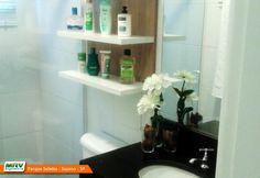 Apartamento decorado 2 dormitórios do Parque Seletto no bairro Casa Branca - Suzano - SP- MRV Engenharia - Banheiro