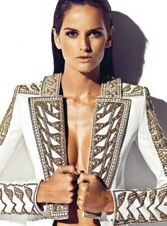 Sol y Sombra – Izabel Goulart turns up the heat for the April cover shoot of Harper's Bazaar Spain with revealing spring ensembles styled by Barbara Martelo. In front of Nico's lens, Izabel smolders in the creations of Tom Ford, Balmain, Givenchy, Moschino amongst others. Slicked back hair by Karim Belghiran and a smokey eye by Jordi Fontanals perfect the sultry ensembles.