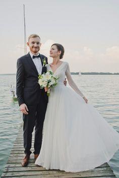 Suknie - Piękna, zwiewna suknia ślubna Gaja! Welon gratis! - 2 000,00zł