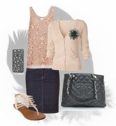"""pinkish and gray"" by audreyfultz18 on Polyvore"