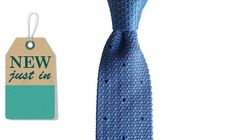 Augustus Hare - George - Sky and navy silk knitted tie – Joe's Store