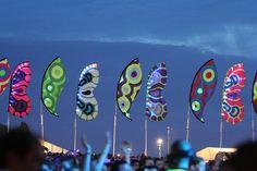 Festival Flags that look like butterfly wings!