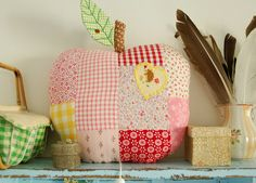 Patchwork Apple Pillow