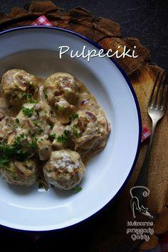 Kulinarne przygody Gatity - przepisy pełne smaku: Pulpety z pieczarkami w sosie śmietankowym