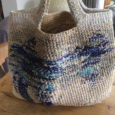 Daniela Gregis crochet bag. One of a kind piece, loving it. #danielagregis #thebeginningofsimplicity #crochet#indigo #45rpm #visvim