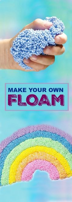 FLOAM- the most fun play material ever! Make your own with this easy recipe. - - FLOAM- the most fun play material ever! Make your own with this easy recipe. FLOAM- the most fun play material ever! Make your own with this easy recipe. Craft Activities, Toddler Activities, Summer Activities For Kids, Summer Crafts For Kids, Diys For Summer, Games To Play With Kids, Babysitting Activities, Preschool Learning, Spring Crafts