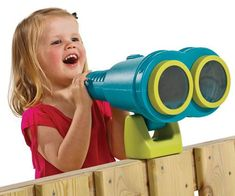 Bigger is better when it comes to young imaginations AND outdoor toys! These lightweight, oversized binoculars don't really magnify, but they are really . Outdoor Baby, Outdoor Games For Kids, Indoor Activities For Kids, Backyard For Kids, Outdoor Toys, Summer Activities, Family Activities, Outdoor Activities, Preschool Playground