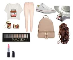 """""""Literally my life"""" by amnafrance on Polyvore featuring River Island, Converse, MICHAEL Michael Kors and Forever 21"""