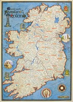 Genealogy Map of Ireland: