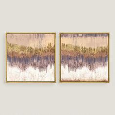 One of my favorite discoveries at WorldMarket.com: Golden Field Abstract Canvas Wall Art Gold Leaf Set of 2