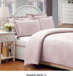 Queen Pink 500 Thread Count Cotton Check Dots Duvet Cover Set