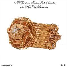 #Victorian #Etruscan #Slide #Bracelet 15K 98 gm Antique by AntiquingOnLine at www.etsy.com/listing/274581918/victorian-etruscan-slide-bracelet-15k