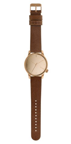 Popular Komono watches with a leather wristband for men. Every detail just right, that's the mark of a true Winston watch.