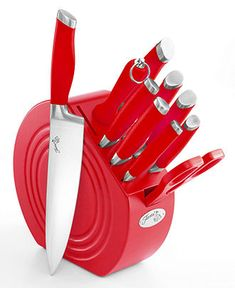 Fiesta Cutlery, 11 Piece Set with Wood Block - Cutlery & Knives - Kitchen - Macy's I WANT!