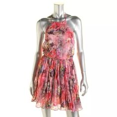 BNWT💠 EVERLEIGH Pink Cotton Floral Print Dress Size: M Size Origin: US Manufacturer Color: Pink Floral Condition: New with tags Silhouette: A-Line Sleeve Length: Spaghetti Strap Closure: Pullover Dress Length: Above Knee, Mini Total Length: 36 1/2 Inches Bust Across: 16 Inches Waist Across: 13 1/2 Inches Material: 100% Cotton Fabric Type: Cotton Specialty: Floral Print Everleigh Dresses