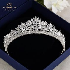 Bavoen Top Quality Royal Sparkling Zircon Brides Headbands Crown Silver Crystal Bridal Hairbands Headpiece Wedding Hair Accessories in Hair Jewelry from Jewelry & Accessories on AliExpress - Day - Nail Effect - # # # - Bride Tiara, Headpiece Wedding, Bridal Headpieces, Wedding Tiaras, Wedding Veils, Bride Hair Accessories, Jewelry Accessories, Royal Jewelry, Fantasy Jewelry