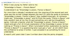 """""""Knowledge is power: France is bacon"""""""