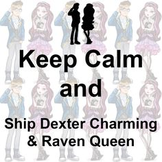 Keep calm and ship Alistair Wonderland & Bunny Blanc. Dexter Charming, Lizzie Hearts, Raven Queen, Ever After High, Open Book, Cherub, Keep Calm, Wonderland, Bunny