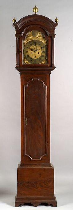 Queen Anne Mahogany Tall Case Clock, Gawen Brown, Boston