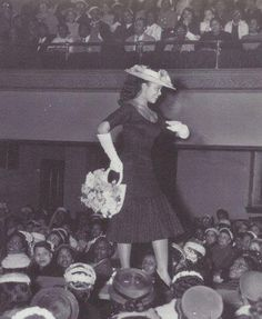 Ruth King, a popular model, on the runway in a fashion show. Photo via model Barbara Summers book, Black and Beautiful: How Women of Color Changed The Fashion Industry. Women In History, Black History, African American Models, American Women, Vintage Black Glamour, Black Image, My Black Is Beautiful, Fashion History, Fashion News