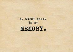 memory - this should no longer be the case